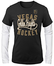 Outerstuff Vegas Golden Knights Long Sleeve Skate Laced T-Shirt, Girls