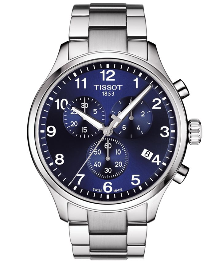 Tissot - Men's Swiss Chronograph Chrono XL Classic T-Sport Stainless Steel Bracelet Watch 45mm