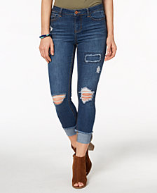 Vanilla Star Juniors' Ripped Skinny Jeans