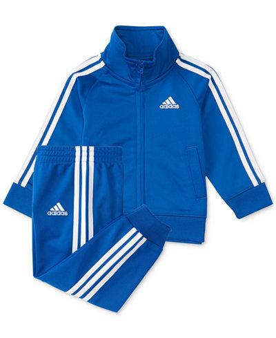adidas 2-Pc. Three-Stripe Track Suit, Baby Boys