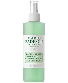 Facial Spray With Aloe, Cucumber & Green Tea, 8-oz.