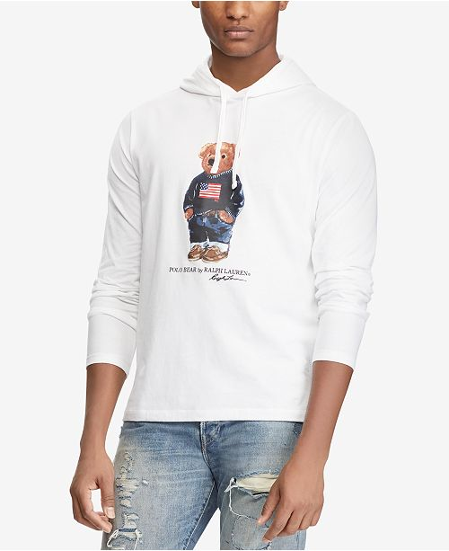 4cb2b46b ... Polo Ralph Lauren Men's Polo Bear Long-Sleeve Hooded T-Shirt ...