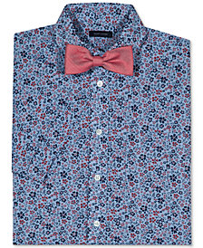 Tommy Hilfiger Floral-Print Short Sleeve Shirt & Bowtie, Big Boys