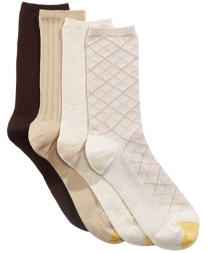 Image of Gold Toe Women's 4-Pk. Textured Crew Socks