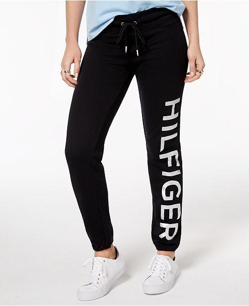 7640fee76a218 Tommy Hilfiger Logo-Print Sweatpants & Reviews - Pants & Capris ...