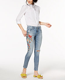 Hudson Jeans Nico Embroidered Ankle Skinny Jeans