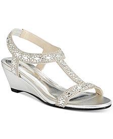 Caparros Lala Embellished Evening Wedge Sandals