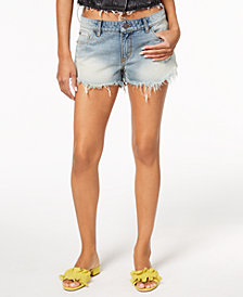 STS Blue Frayed Cheeky Denim Shorts