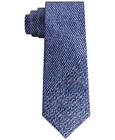 DKNY Men's Photo Realistic Panel Print Silk Slim Tie