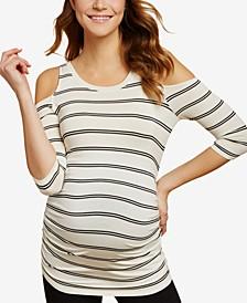 Maternity Cold-Shoulder T-Shirt