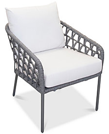 CLOSEOUT! Key Largo Aluminum Accent Chair with Sunbrella® Cushion, Created for Macy's