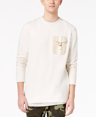 American Rag Men's Layered-Look Pocket Sweatshirt, Created for Macy's