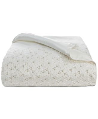 Gilded Geo Embroidered Full/Queen Duvet Cover, Created for Macy's