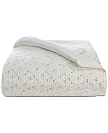 Hotel Collection Gilded Geo Embroidered Full/Queen Duvet Cover, Created for Macy's