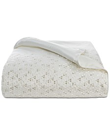 Hotel Collection Gilded Geo Embroidered King Duvet Cover, Created for Macy's