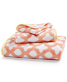 Martha Stewart Collection Cotton Tile Spa Fashion Wash Towel, Created for Macy's