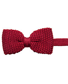 Ryan Seacrest Distinction™ Men's Knit Pre-Tied Bow Tie, Created for Macy's