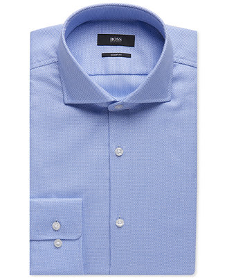 Boss Men's Sharp Fit Oxford Cotton Dress Shirt by Hugo Boss
