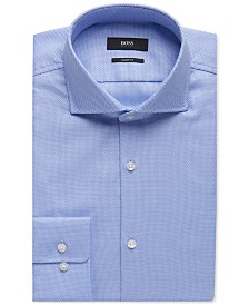 BOSS Men's Sharp-Fit Oxford Cotton Dress Shirt