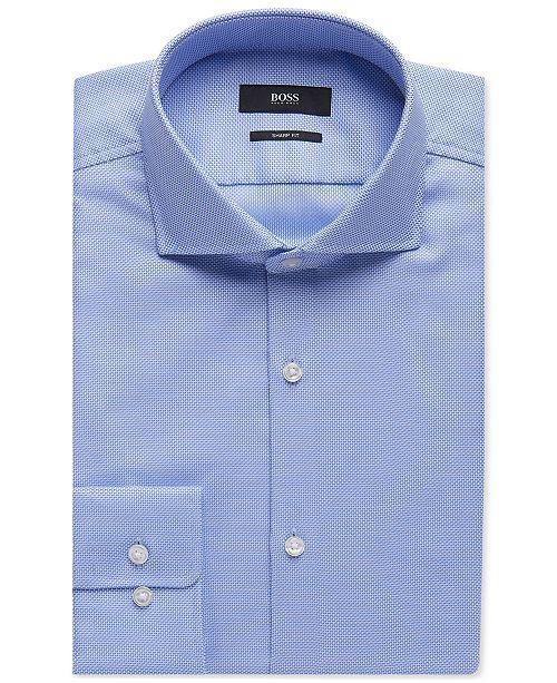 a60cd1601871 Hugo Boss BOSS Men's Sharp-Fit Oxford Cotton Dress Shirt & Reviews ...