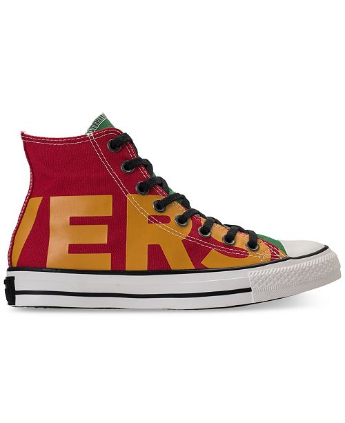 5b2e40ff1e00dd ... Converse Men s Chuck Taylor All Star Wordmark High Top Casual Sneakers  from Finish ...