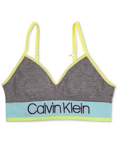 Calvin Klein Seam-Free Long-Line Bra, Little Girls & Big Girls