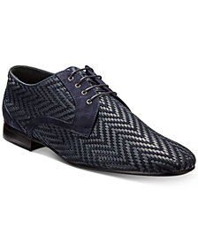 Roberto Cavalli Men's Woven Chevron Oxfords