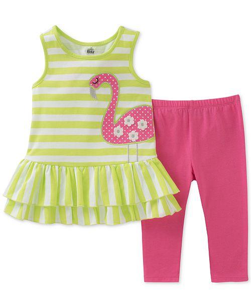 a82eeafb24cf ... Kids Headquarters 2-Pc. Flamingo Tunic   Leggings Set