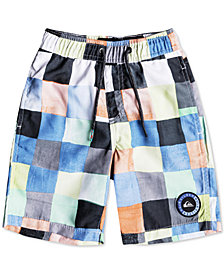 Quiksilver Resin Check Swim Trunks, Little Boys