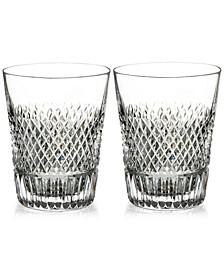 Diamond Line Shot Glass Pair