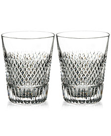 Waterford Diamond Line Shot Glass Pair