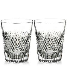 Waterford Diamond Line Shot Glass Pair