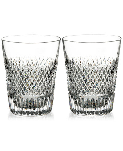 Waterford Diamond Line Shot Glasses, Set of 2