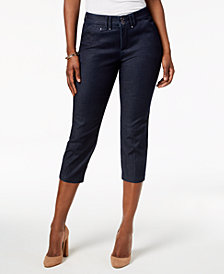 Lee Platinum Petite Midnight Stretch Denim Capri Pants