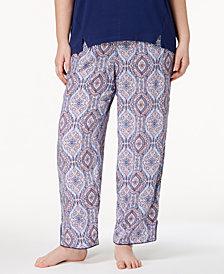 Alfani Plus Size Woven Printed Pajama Pants, Created for Macy's