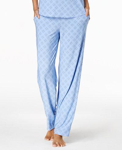 Alfani Diamond-Print Pajama Pants, Created for Macy's