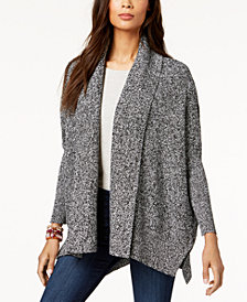 Style & Co Open-Front Shawl Cardigan, Created for Macy's