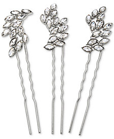 Jewel Badgley Mischka Silver-Tone 3-Pc. Set Crystal Hair Pins