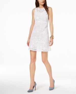 Michael Michael Kors Embroidered Mesh Illusion Dress 5869670