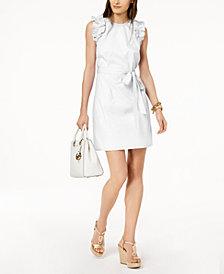 MICHAEL Michael Kors Ruffle-Shoulder Dress