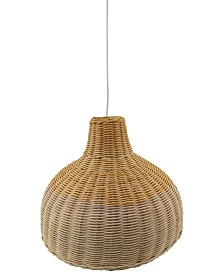 Pacific Coast Rattan Fixture Pendant, Created for Macy's