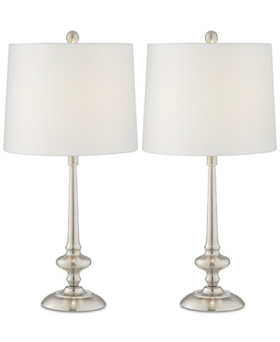 Pacific coast set of 2 metal transitional table lamps created for macys