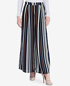 Verona Collection Striped Wide-Leg Pants