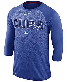 Nike Men's Chicago Cubs AC Cross-Dye Raglan T-Shirt