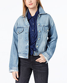 M1858 Kane Cotton Denim Jacket, Created for Macy's