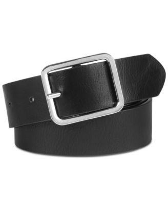 I-N-C Womens Metallic Woven Belt