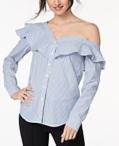 XOXO Juniors' Cotton Off-The-Shoulder Shirt