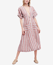 Free People Monday Striped Midi Dress
