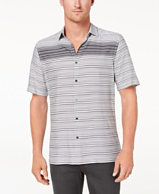 Alfani Men's Gradient Stripe Shirt, Created for Macy's