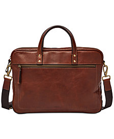 Fossil Men S Haskell Leather Briefcase
